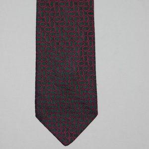 Burberry Woven Tie Necktie 100% Silk